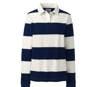 Nautical Land's End Blue & White Sweater